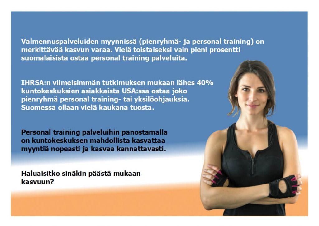 Menesty personal training markkinassa